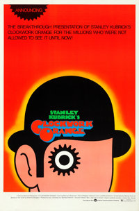 "A Clockwork Orange (Warner Brothers, 1971). Rolled, Very Fine. One Sheet (27"" X 41"") Alternate ""Announcin..."