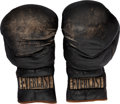 Boxing Collectibles:Memorabilia, 1974 Muhammad Ali Training Worn & Signed Boxing Gloves....