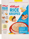 Music Memorabilia:Memorabilia, Beatles Kellogg's Rice Krispies Promotional Advertisement and Unassembled Rice Krispies Cereal Box With Beatles Ad (UK, Circa ...