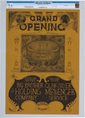Music Memorabilia:Posters, Big Brother and the Holding Company Continental Ballroom Concert Poster AOR 2.345 CGC 9.6 (1967). ...