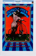 Music Memorabilia:Posters, Jethro Tull Fillmore West Concert Poster Signed by the Poster Artist (Bill Graham, 1969). ...