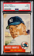 Baseball Cards:Singles (1950-1959), 1953 Topps Mickey Mantle #82 PSA Good 2....