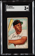 Baseball Cards:Singles (1950-1959), 1952 Bowman Willie Mays #218 SGC VG 3....