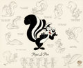 Animation Art:Limited Edition Cel, Pepé Le Pew Model Sheet Limited Edition Cel #576/750 (Warner Brothers, 1996)....