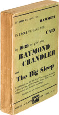 Books:Mystery & Detective Fiction, Raymond Chandler. The Big Sleep. New York: Alfred A. Knopf,1939. First edition, advance proof ...