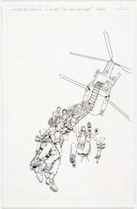 Don Lomax Vietnam Journal: The Iron Triangle Trade Paperback Cover Original Art (Apple Press, 1993)
