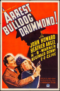 "Arrest Bulldog Drummond (Paramount, 1939). Folded, Very Fine-. One Sheet (27"" X 41""). Mystery"