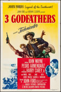 "Movie Posters:Western, 3 Godfathers (MGM, 1948). Folded, Fine/Very Fine. One Sheet (27"" X41""). Western.. ..."
