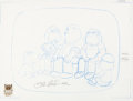 Animation Art:Production Drawing, Family Guy First Episode Full Family Animation DrawingSigned by Seth MacFarlane (Fox, 1999)....