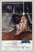 """Movie Posters:Science Fiction, Star Wars (20th Century Fox, 1977) Folded, Fine/Very Fine. One Sheet (27"""" X 41"""") Style A, Third Printing. Tom Jung Artwork. ..."""