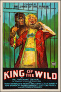 "Movie Posters:Serial, King of the Wild (Mascot, 1931) Folded, Very Fine-. One Sheet (27"" X 41"") Chapter 8 -- ""The Jaws of the Jungle."" Serial.. ..."
