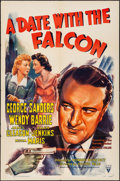 """Movie Posters:Mystery, A Date with the Falcon (RKO, 1941) Folded, Very Fine-. One Sheet (27"""" X 41""""). Mystery...."""