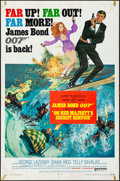 "Movie Posters:James Bond, On Her Majesty's Secret Service (United Artists, 1970) Folded, Fine+. One Sheet (27"" X 41"") Style B. Frank McCarthy Artwork...."