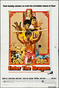 """Enter the Dragon & Other Lot (Warner Brothers, 1973) Folded, Overall: Fine+. One Sheets (2) (27"""" X 41""""..."""