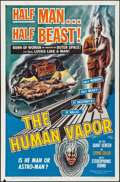 """Movie Posters:Science Fiction, The Human Vapor & Other Lot (Brenco, 1962). Folded, Fine/VeryFine. One Sheets (2) (27"""" X 41""""). Science Fiction.. ... (Total: 2Items)"""