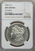 1883-S $1 -- Cleaned -- NGC Details. Unc. NGC Census: (106/1743). PCGS Population: (147/2910). CDN: $950 Whsle. Bid for...