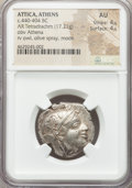 Ancients:Greek, Ancients: ATTICA. Athens. Ca. 440-404 BC. AR tetradrachm (25mm,17.21 gm, 8h). NGC AU 4/5 - 4/5....
