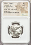Ancients:Greek, Ancients: ATTICA. Athens. Ca. 440-404 BC. AR tetradrachm (25mm,17.17 gm, 4h). NGC AU 4/5 - 4/5....