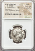 Ancients:Greek, Ancients: ATTICA. Athens. Ca. 440-404 BC. AR tetradrachm (25mm,17.15 gm, 7h). NGC AU 5/5 - 4/5....