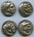 Ancients:Ancient Lots  , Ancients: ANCIENT LOTS. Greek. Macedonian Kingdom. Alexander III the Great (336-323 BC). Lot of four (4) AR tetradrachms. Fine-Choice Fi... (Total: 4 coins)
