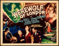 "Movie Posters:Horror, Werewolf of London (Universal, 1935). Very Fine-. Title Lobby Card(11"" X 14"").. ..."