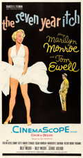 "Movie Posters:Comedy, The Seven Year Itch (20th Century Fox, 1955). Fine/Very Fine onLinen. Three Sheet (41.25"" X 78.5"").. ..."