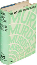 Books:Mystery & Detective Fiction, Anthony Berkeley. Trial and Error. London: Hodder and Stoughton, 1937. First edition....