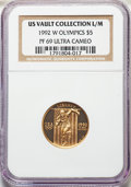 1992-W $5 Olympic PR69 Ultra Cameo NGC. Ex: U.S. Vault Collection L/M. NGC Census: (2121/2599). PCGS Population: (2961/3...