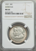 Commemorative Silver, 1937 50C Antietam MS64 NGC. NGC Census: (581/2025). PCGS Population: (1196/3447). CDN: $525 Whsle. Bid for problem-free NGC...