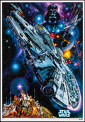 "Movie Posters:Science Fiction, Star Wars (20th Century Fox, R-1982) Rolled, Very Fine/Near Mint. Japanese B2 (20.25"" X 28.5"") Noriyoshi Ohrai Artwork. Scie..."
