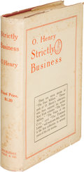 Books:Mystery & Detective Fiction, O. Henry. Strictly Business. New York: 1910. First edition....