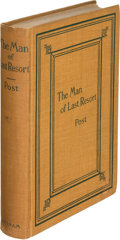 Books:Mystery & Detective Fiction, Melville Davisson Post. The Man of Last Resort. New York: 1897. First edition, both the cloth and wrappers issue; Ra... (Total: 2 Items)