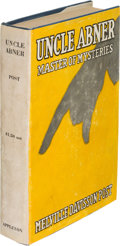 Books:Mystery & Detective Fiction, Melville Davisson Post. Uncle Abner. Master of Mysteries. New York: D. Appleton and Company, 1918. First edition...