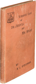 Books:Horror & Supernatural, Robert Louis Stevenson. Strange Case of Dr. Jekyll and Mr.Hyde. London: 1886. First English edition, cloth issu...