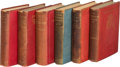 Books:Science Fiction & Fantasy, H. G. Wells. Group of Six Books. London: 1896-1902. First editions,association copies, each inscribed by the auth...