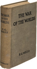 Books:Science Fiction & Fantasy, H. G. Wells. The War of the Worlds. London: 1898. First edition....