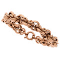 Estate Jewelry:Bracelets, Rose Gold Bracelet . ...