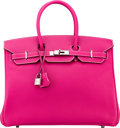Luxury Accessories:Bags, Hermès Limited Edition 35cm Rose Tyrien & Rubis Epsom Leather Candy Birkin Bag with Palladium Hardware. O Square, 2011. ...