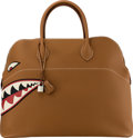 """Luxury Accessories:Bags, Hermès 45cm Gold Togo Leather Shark Bolide Bag with PalladiumHardware. X, 2016. Condition: 1. 17"""" Width x 14""""Hei..."""