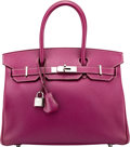 Luxury Accessories:Bags, Hermès Limited Edition 30cm Tosca & Rose Tyrien Epsom LeatherCandy Birkin Bag with Palladium Hardware. O Square, 2011....