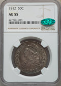 Bust Half Dollars: , 1812 50C Large 8 AU55 NGC. CAC. NGC Census: (69/302). PCGS Population: (149/292). CDN: $1,000 Whsle. Bid for problem-free N...
