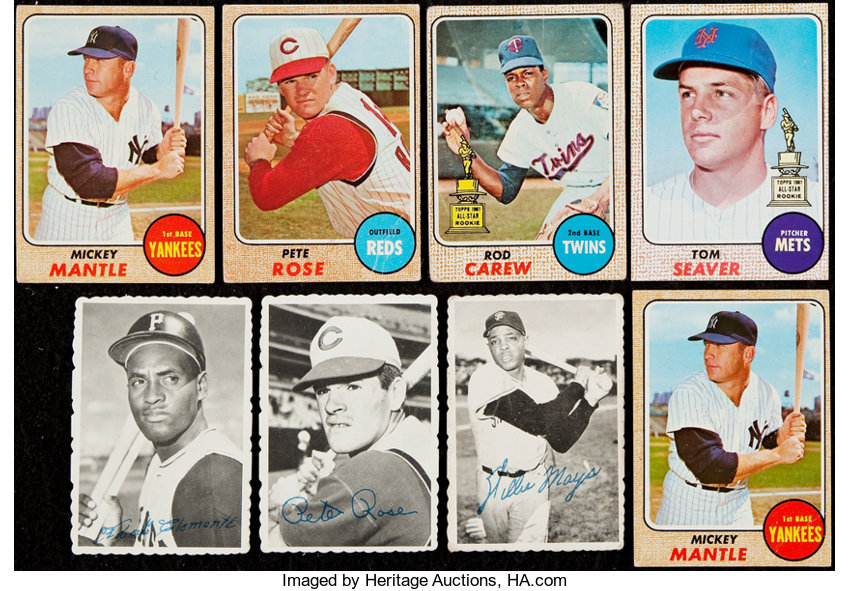 1968 Topps Baseball Collection 187 With 1969 Topps Deckle Edge