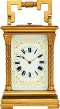 Timepieces:Clocks, French, Fine Striking & Repeating Carriage Clock, circa 1890. ...