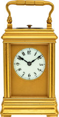 Timepieces:Clocks, Adolphe Ollier, Fine Miniature Grande & Petite Sonnerie Carriage Clock, circa 1890. ...