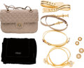 Luxury Accessories:Accessories, Set of Eight: Two Pairs of Chanel Earrings, Judith Leiber Bag, Four Judith Leiber Belts, & Fendi Scarf. Condition: 3. ... (Total: 8 )