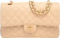 """Luxury Accessories:Bags, Chanel Beige Clair Caviar Leather Medium Double Flap Bag with Gold Hardware. Condition: 2. 10"""" Width x 6"""" Height x 2.5..."""