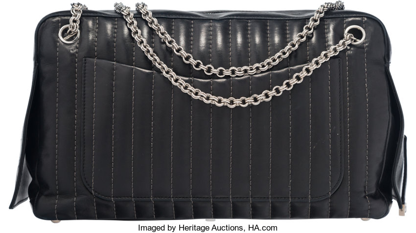 1b4cf3d9c2f5 Chanel Black Lambskin Mademoiselle Maxi Flap Camera Bag with | Lot #58207 |  Heritage Auctions