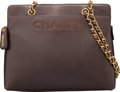 """Luxury Accessories:Bags, Chanel Brown Caviar Leather Zippered Tote Bag. Condition 2. 12"""" Width x 10"""" Height x 4"""" Depth. ..."""