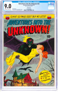 Golden Age (1938-1955):Horror, Adventures Into The Unknown #23 Diamond Run Pedigree (ACG, 1951) CGC VF/NM 9.0 Off-white to white pages....