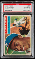 Baseball Cards:Singles (1950-1959), 1956 Topps Hank Aaron (White Back) #31 PSA EX-MT 6....